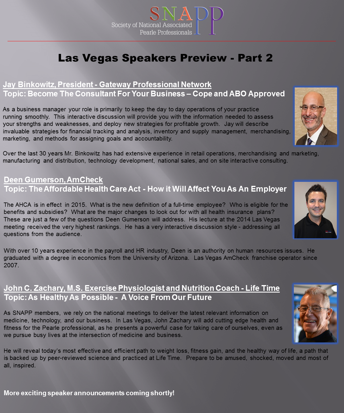 Las Vegas 2015 Speakers 7-17 part 2