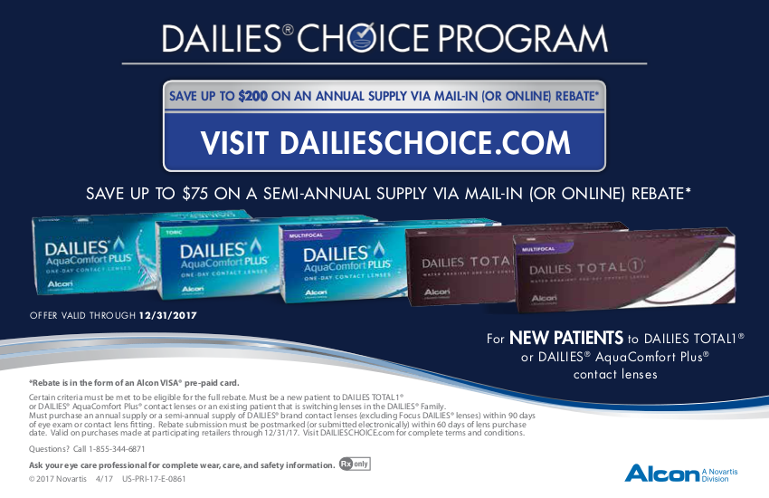 Alcon Dailies Rebate Offer – Patients Save up to $200 on Annual ...