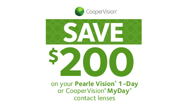 CooperVision 2018 Rebates – $200 on MyDay and Pearle 1-Day