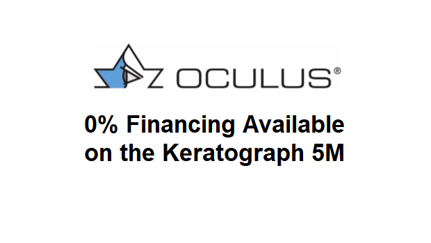 0% Financing on the Oculus Keratograph 5M