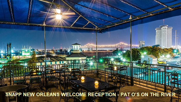 SNAPP NEW ORLEANS WELCOME RECEPTION – PAT O'S ON THE RIVER