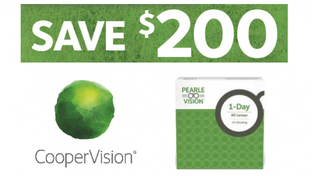 CooperVision: Patient Rebate $200 – Pearle Vision 1-Day